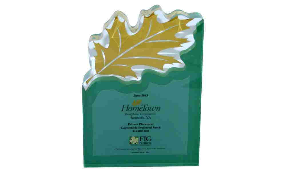 Logo-Themed Lucite Tombstone