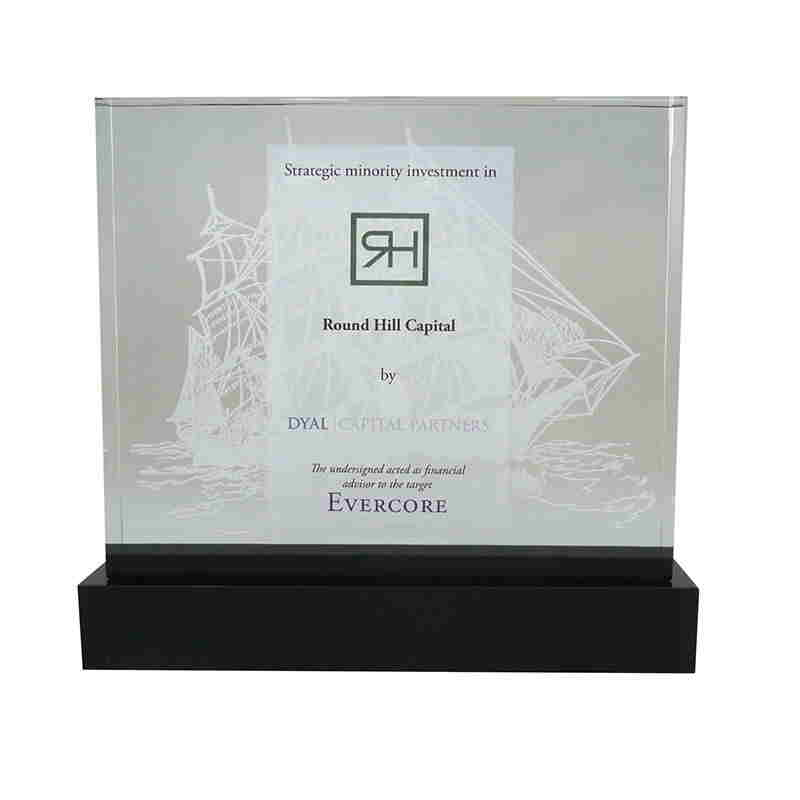 Lucite Tombstone for Real Estate Investment
