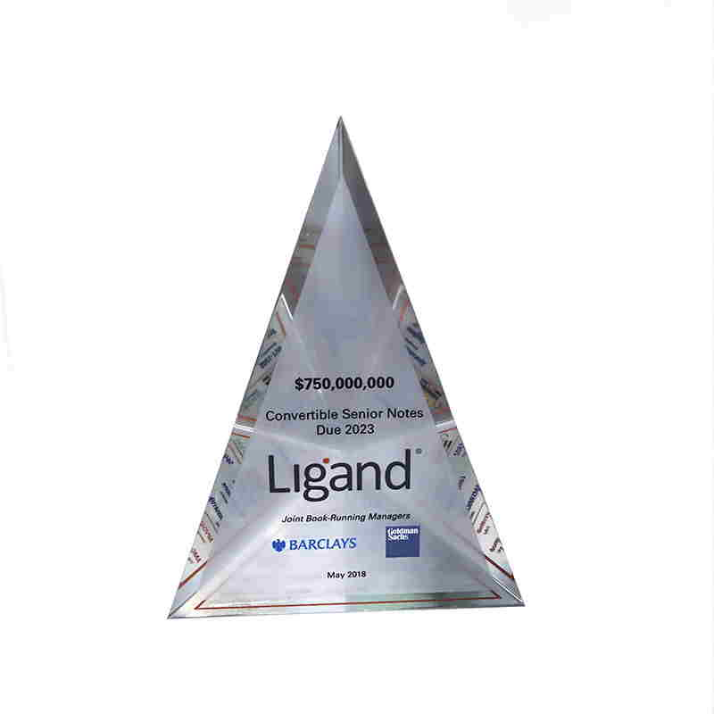 Pyramid-Shaped Debt Offering Tombstone