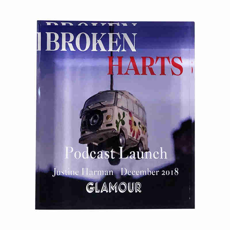 "Custom Crystal Commemorating Launch of ""Broken Harts"" Podcast"