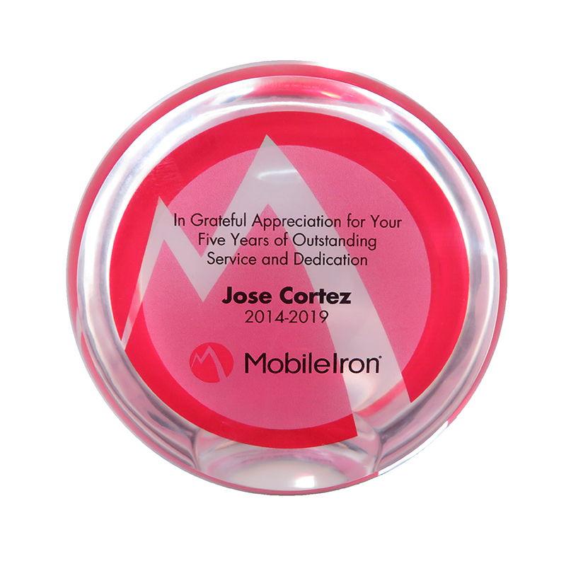 Custom Lucite Employee Service Award