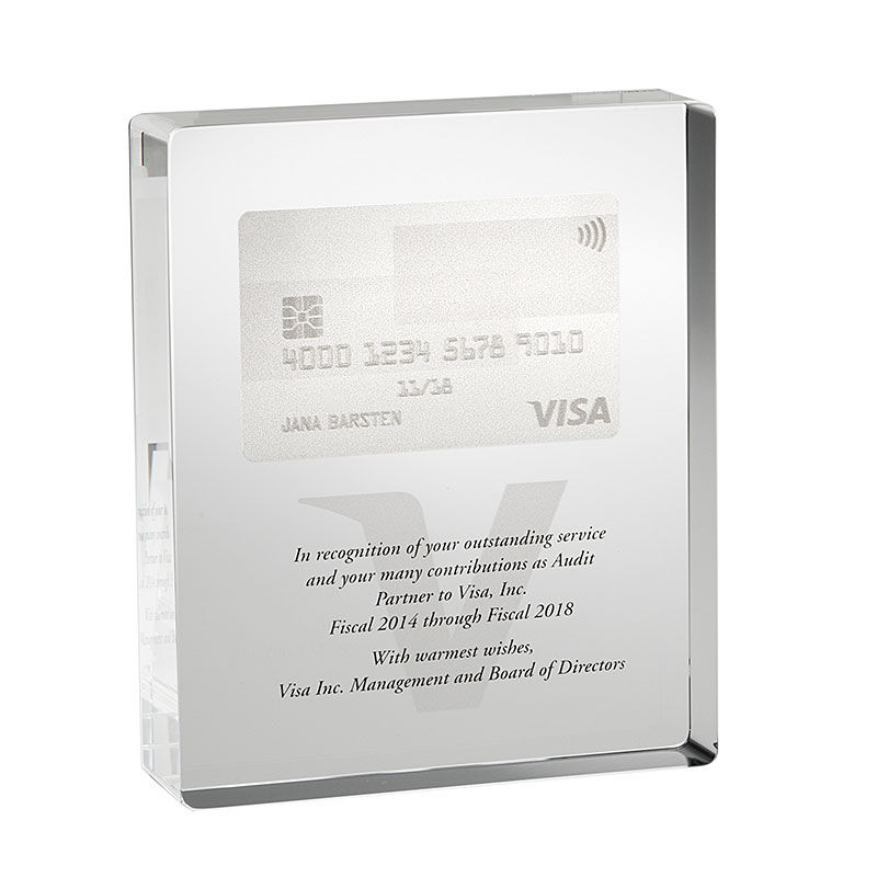 Credit Card-Themed Board of Directors Award