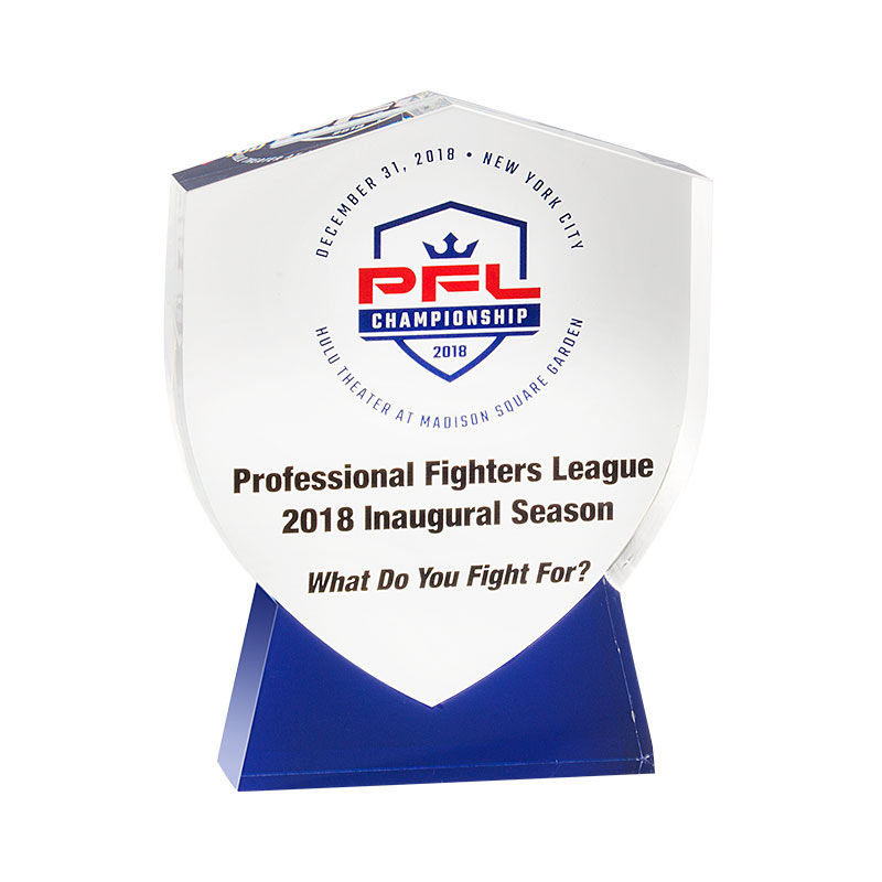 Custom Crystal Commemorating Professional Fighters League