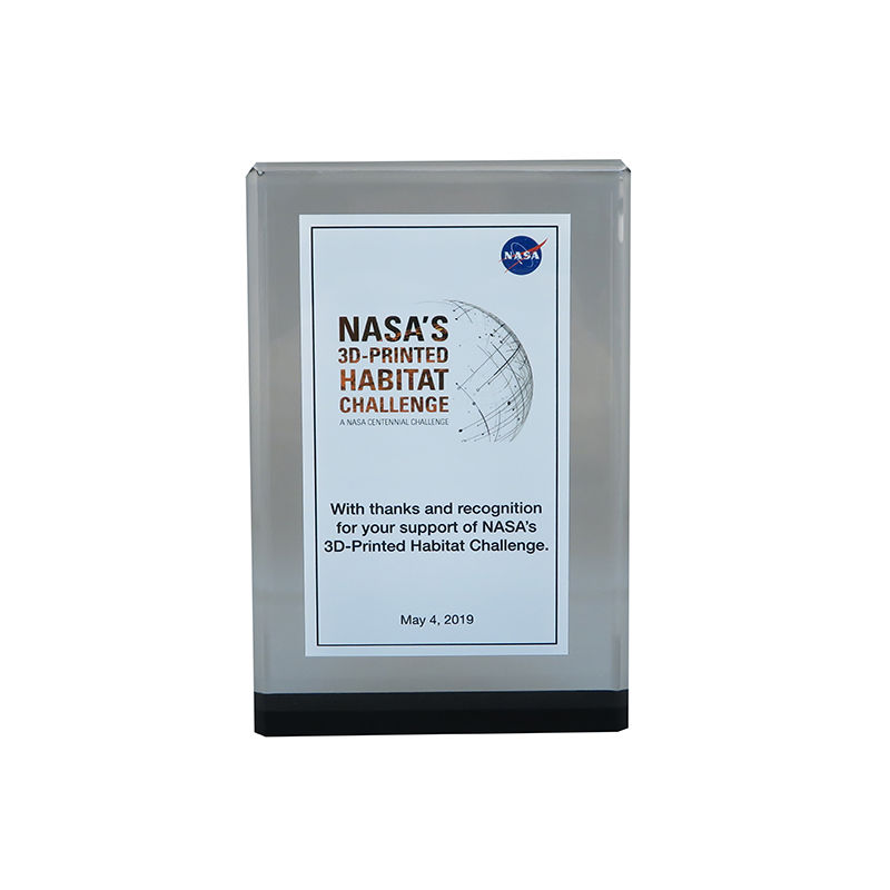 Custom Lucite for NASA Habitat Competition