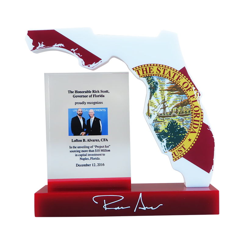 Florida-Themed Custom Award
