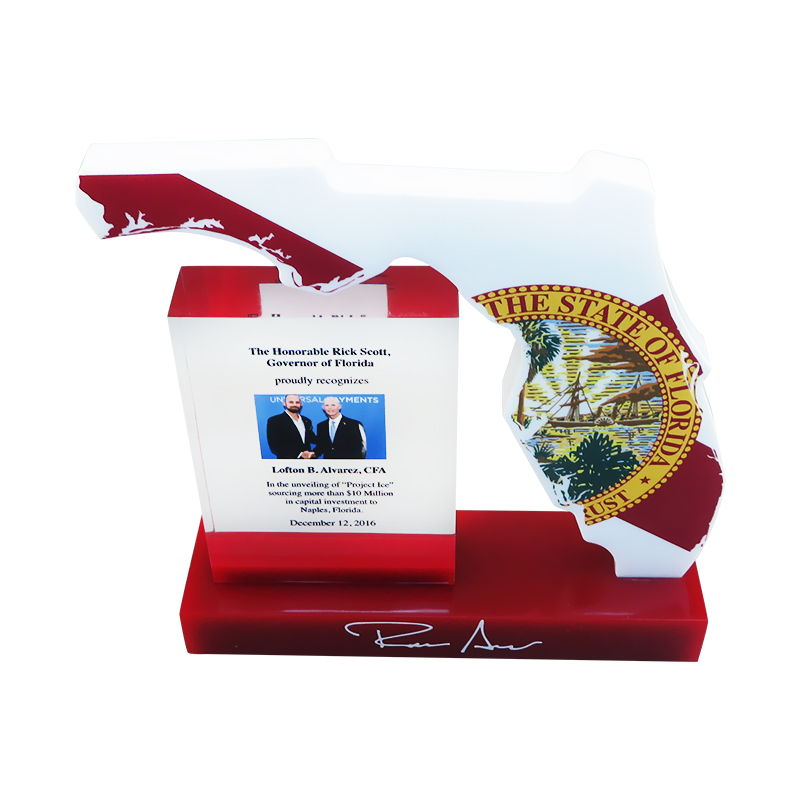 Florida-Themed Custom Lucite