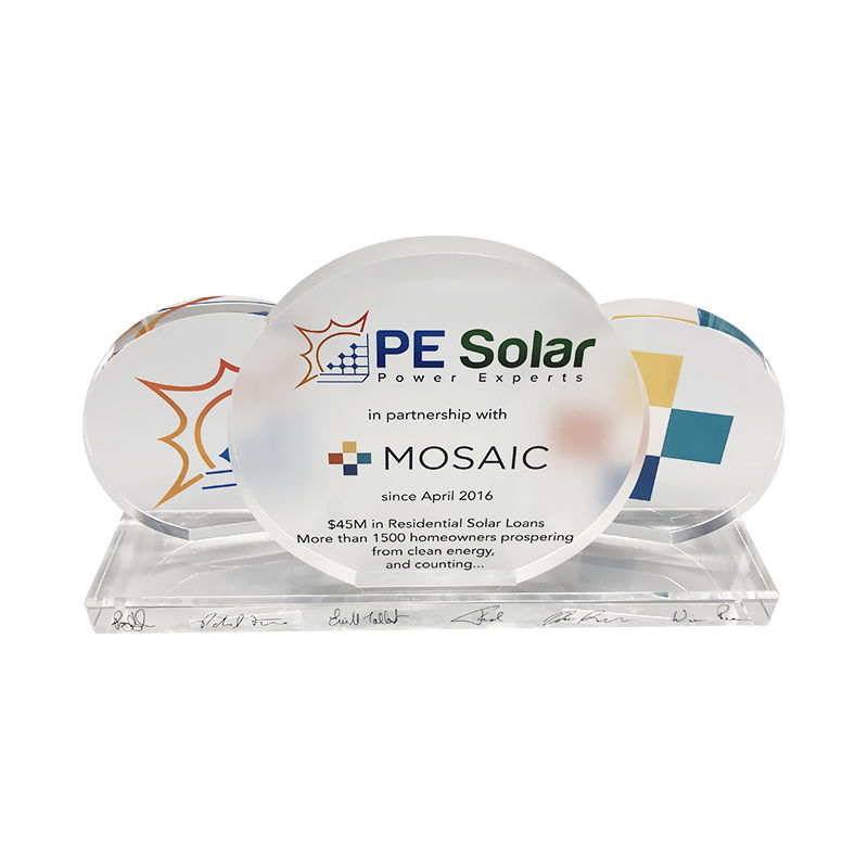 Solar-Themed Partnership Award