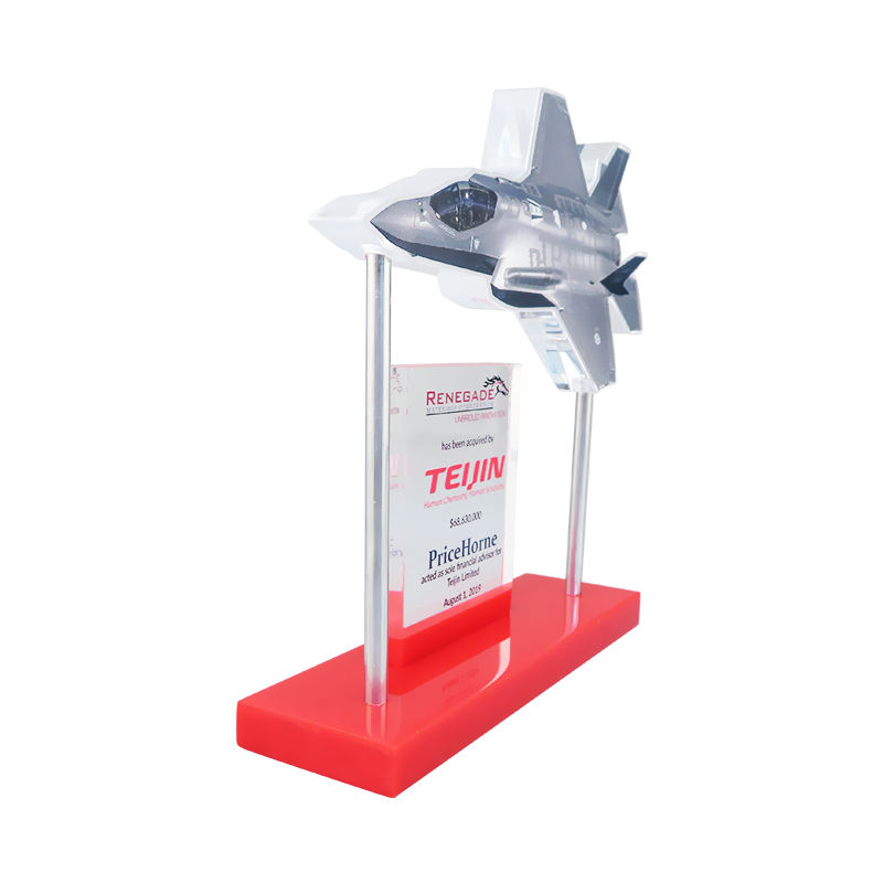 Jet Fighter-Themed Financial Tombstone