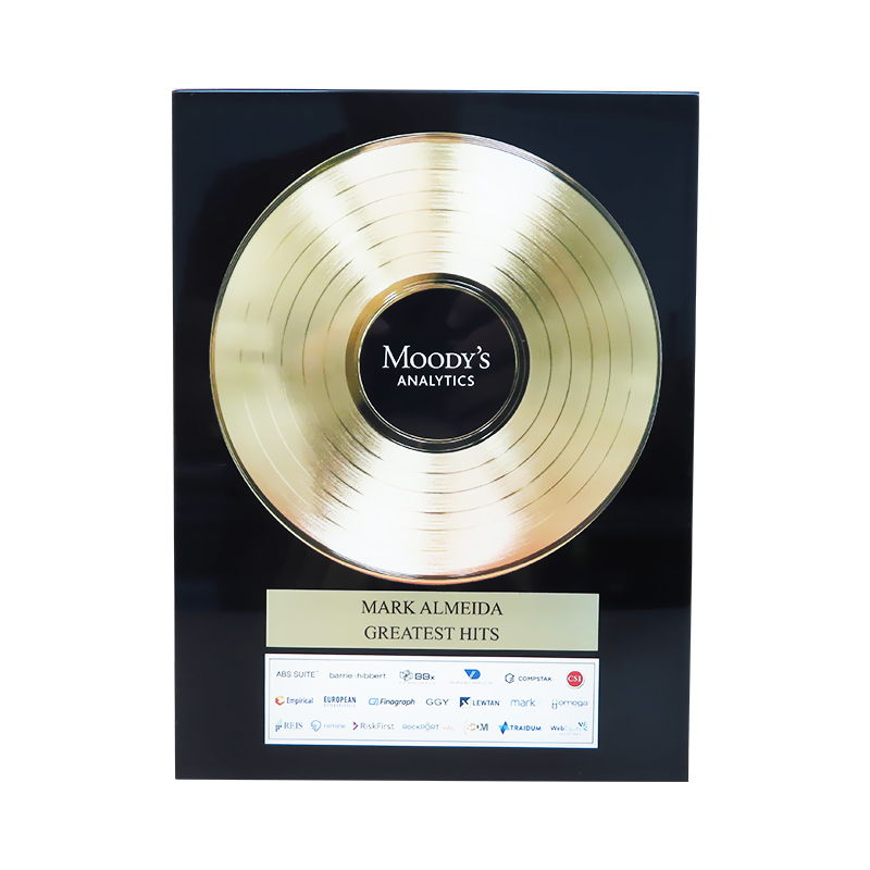 Gold Record-Themed Employee Recognition Award
