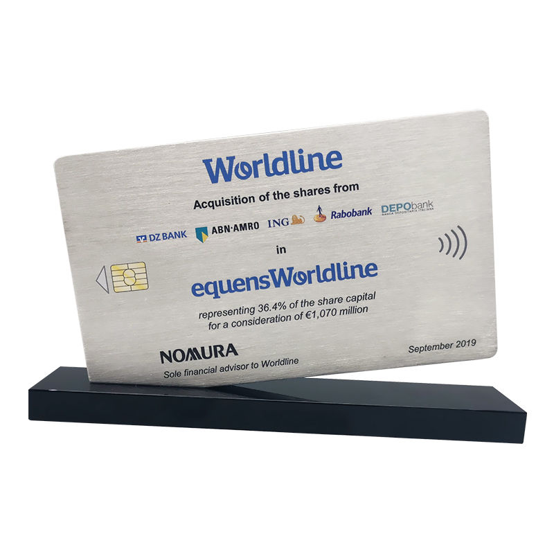 Credit Card-Themed Financial Tombstone