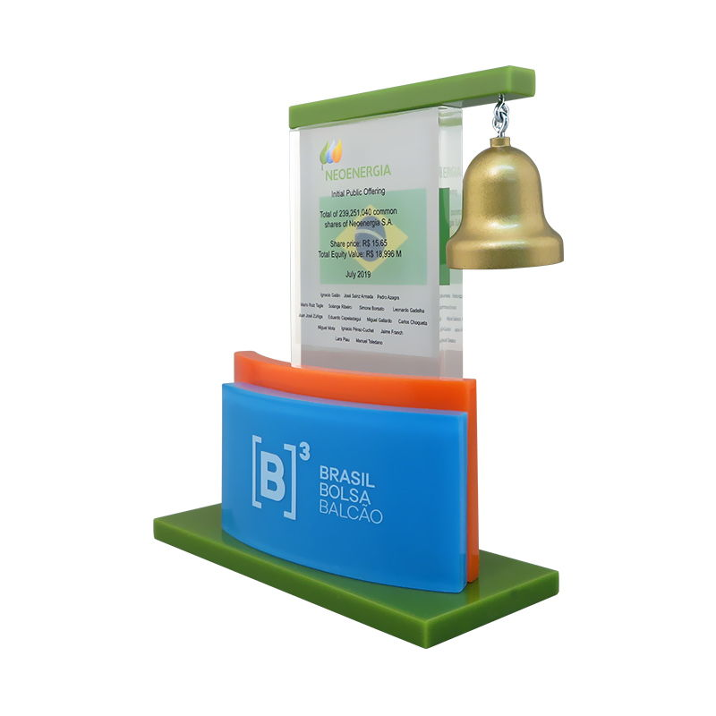 IPO Financial Tombstone with Bell
