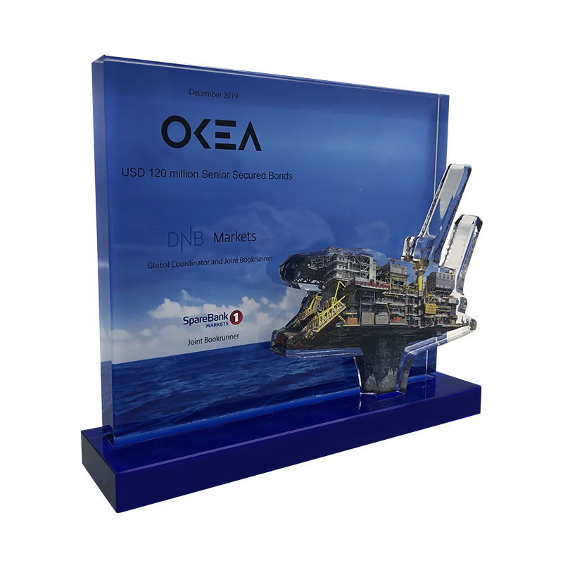 Offshore Oil Rig-Themed Financial Tombstone