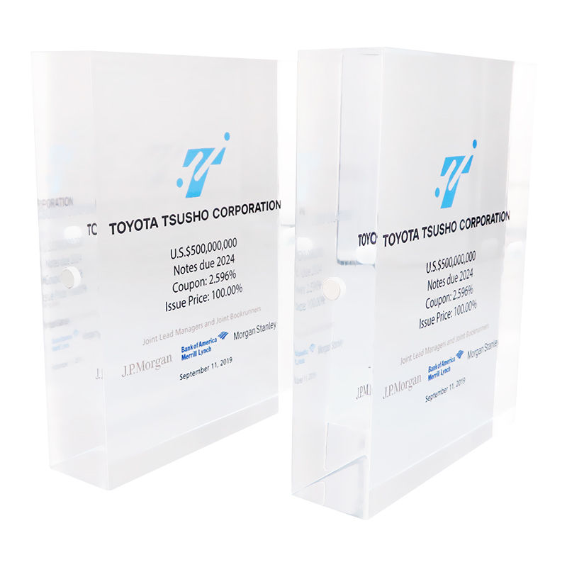 Deal Toys | Financial Tombstones - image modular-lucite-tombstone-design on https://prestigecustomawards.com