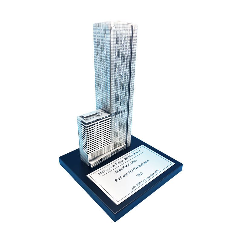 Pewter Residential Tower Commemorative