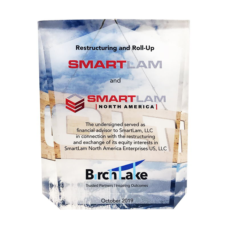 SmartLam Restructuring Crystal Commemorative