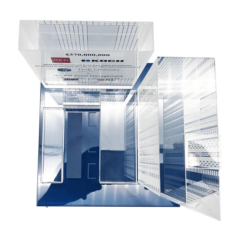 Office Building Custom Crystal (Top View)