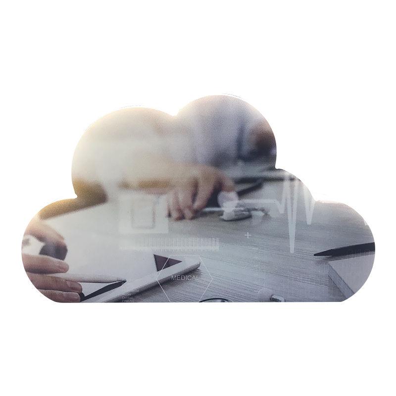 Cloud-Themed Custom Crystal (Back View)