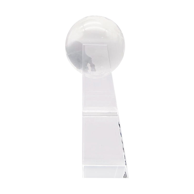 Globe-Themed Custom Crystal (Side View)