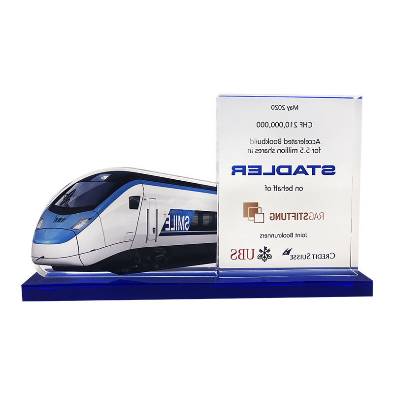Deal Toys | Financial Tombstones - image railcar-themed-financial-tombstone-back-view-1 on https://prestigecustomawards.com