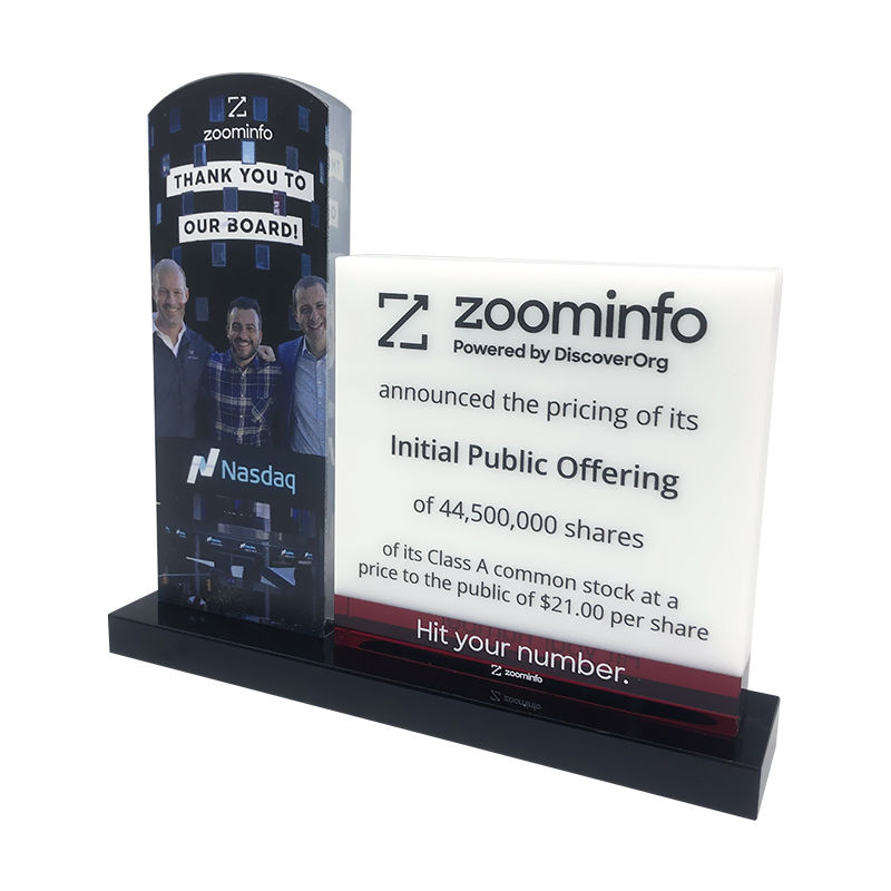 ZoomInfo Initial Public Offering Commemorative