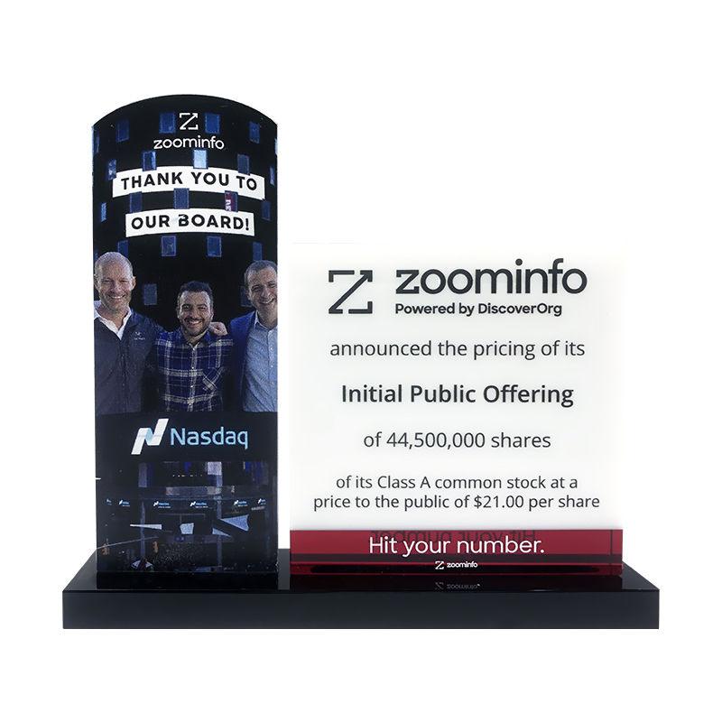 ZoomInfo IPO Custom Crystal