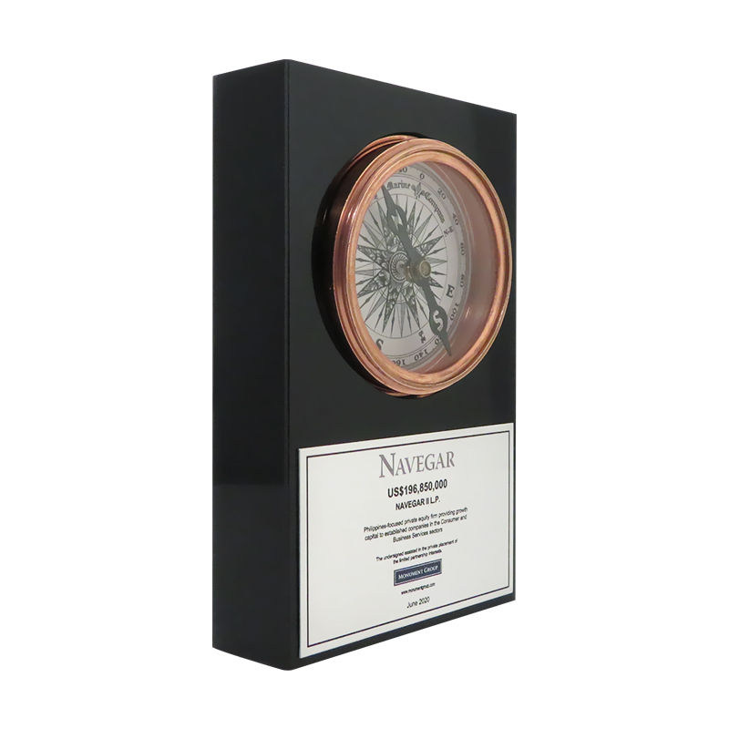 Compass-Themed Custom Lucite