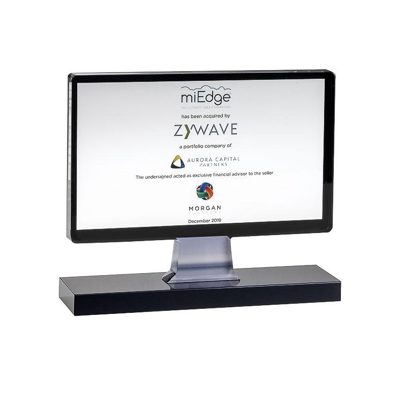 Computer Monitor-Themed Custom Crystal