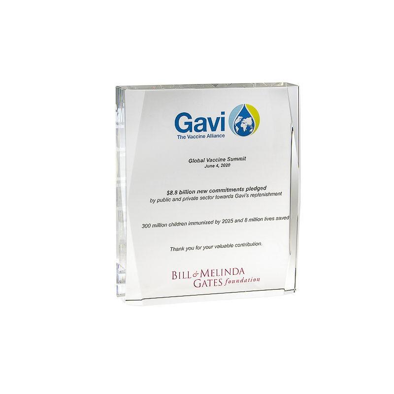Global Vaccine Summit Crystal Commemorative