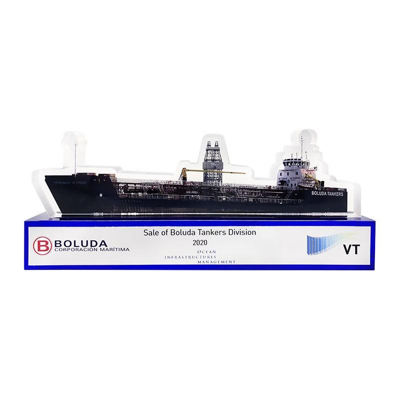 Oil Tanker-Themed Custom Crystal