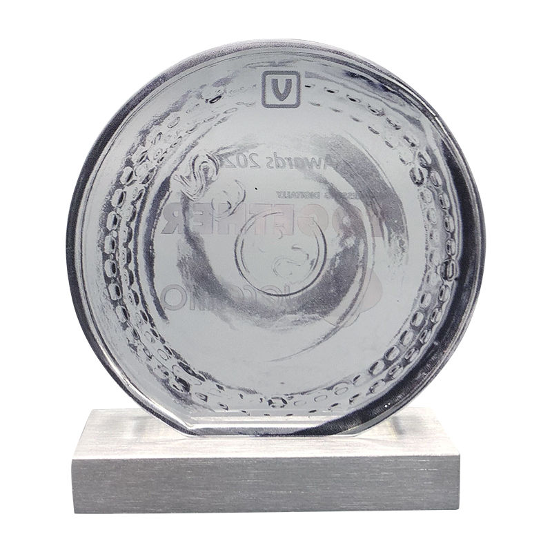 Glass Industry Custom Award (Back View)