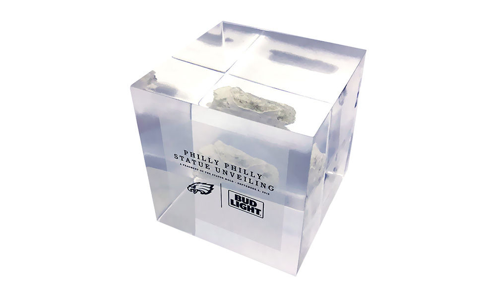 Philadelphia Eagles Philly Philly Lucite Embedment