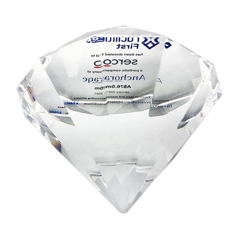 Custom Diamond-Shaped Crystal (Back View)