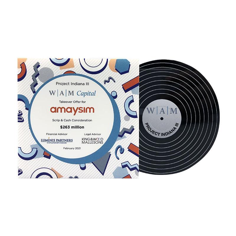 Vinyl Record-Themed Custom Crystal