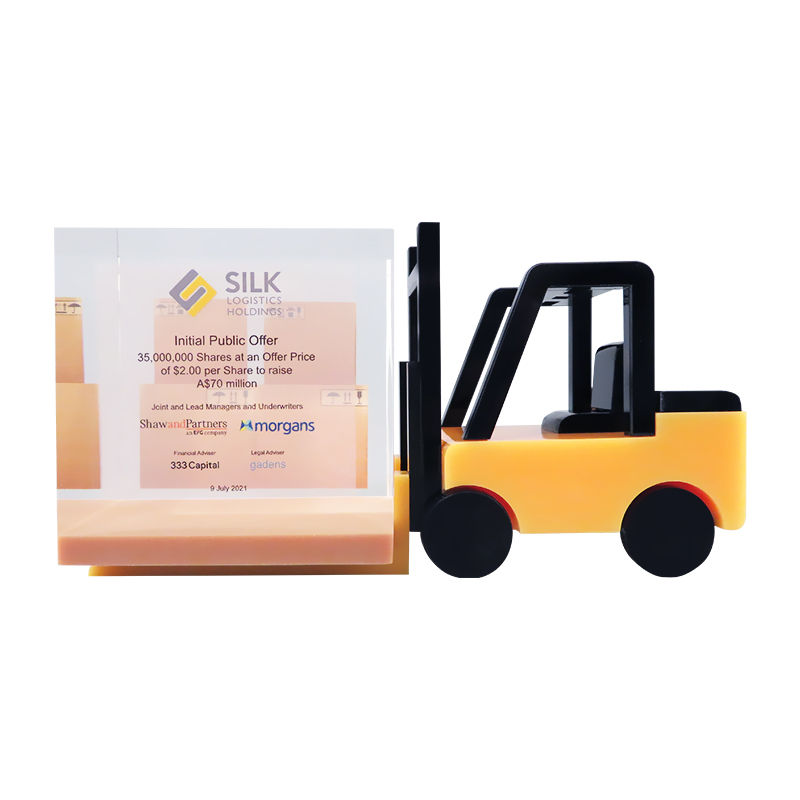 Forklift-Themed Corporate Tombstone